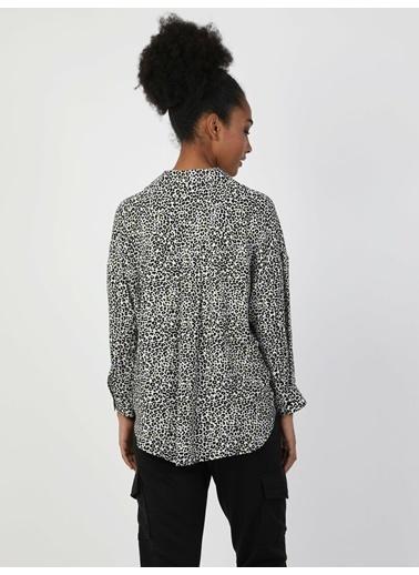 Colin's Blouse Shirt Neck Kadın Siyah Uzun Kol Gömlek Siyah